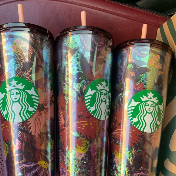 Starbucks foiled cup.  New.  Only two available.